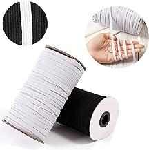 3mm Elastic Cord Heavy Stretch String Braided Elastic Band Rope 109 Yard Sewing Elastic Spools (black)