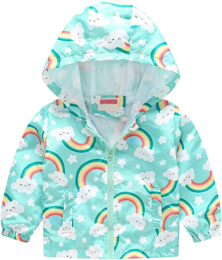 Kids Boys Girls Hooded Jackets Rain Print Cute Zip Cartoon Cover Year-end annual account Ranking TOP5