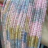 YSTSPYH Piedras Preciosas Piedra Natural facetada Pequeño 2 3 4 mm Cuarzo de Cuarzo Beads Joyería Haciendo Pulseras de Collar (Color : NO.7 AAA Morgan, Item Diameter : 4mm)