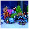 TOOGOO(R) Resin Coral Plant Shell Reef Mountain Fish Tank Cave Aquarium Ornament Decor by TheBigThumb