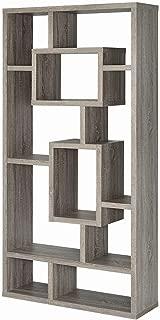 Coaster Home Furnishings Geometric Cubed Rectangular Bookcase, 11.5