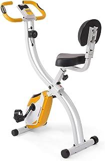 Ultrasport motionscykel F-cykel, LCD-display, hopfällbar hemtränare, opt. Med ryggstöd, justerbara motståndsnivåer, med ha...
