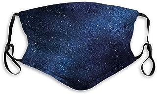 Vindtät aktiverad mask, utrymme med miljarder stjärnor inspirerande vy nebulosa galax kosmos oändligt universum, ansiktsde...