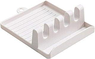 JIAHU Étagère de rangement multifonction pour cuisine, repose-cuillère, support pour ustensiles de cuisine Blanc