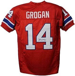 steve grogan signed jersey