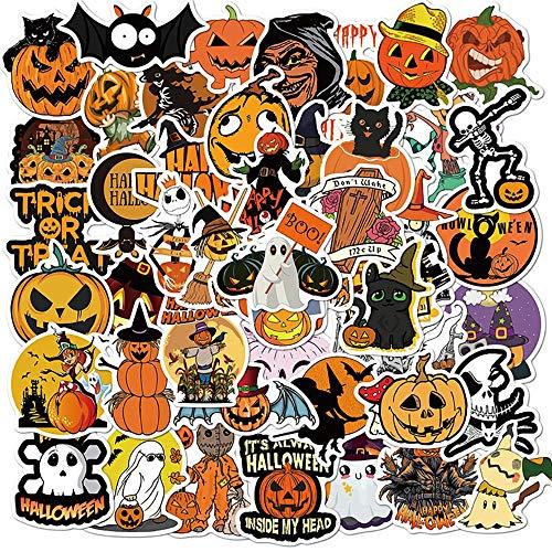 YZFCL Cavai Halloween Pumpkin Sticker Bike Skateboard Refrigerator Guitar Laptop Luggage Classic Toy Joke Sticker Kids Gift 50pcs