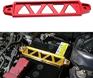 Dewhel JDM Billet Aluminum Battery Tie Down For Honda Civic Acura Rsx Ep3 Dc5 Si (Red)