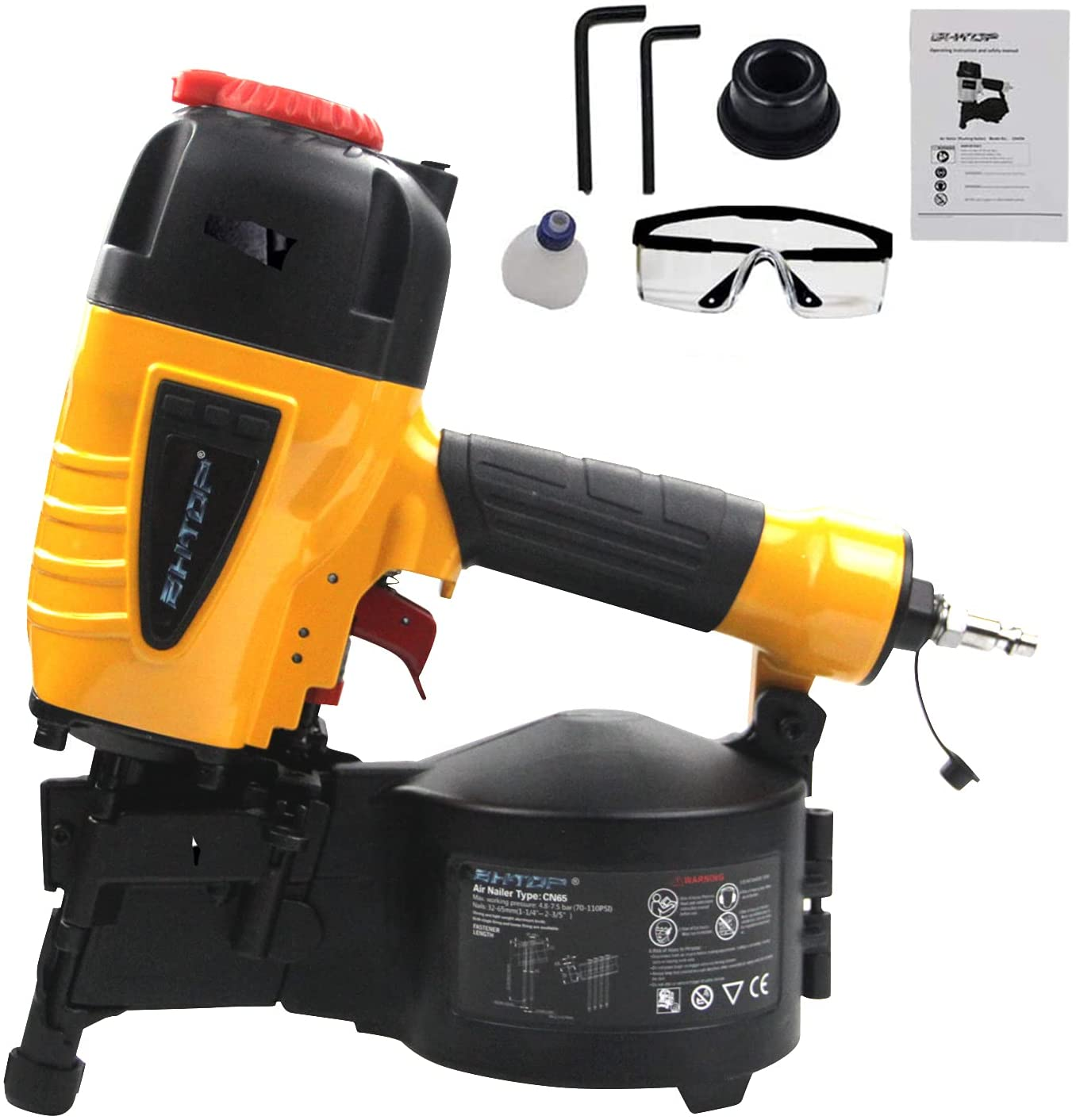 BHTOP 15-Degree Coil At the price Siding Fencing Nailer 2-1 1 2-I to 4-inch At the price