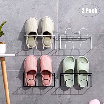 Household Foldable Hanging Shoe Rack Bathroom Wall Hanging Shoes Slippers Storage Rack
