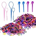 2000PCS Elastic Hair Ties| 4PCS Topsy Hair Tail Tools| 4PCS Hair Rubber Bands Remover Cutter. YGYXMY Premium Hair Braids Accessories for Kid Girls