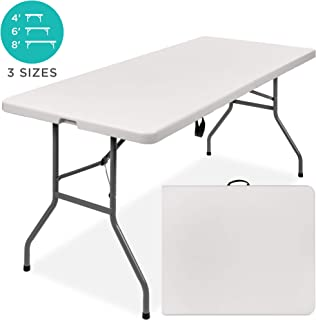 Best Choice Products 6ft Indoor Outdoor Portable Folding Plastic Dining Table w/Handle, Lock for Picnic, Party, Camping