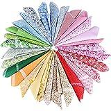 AONER (50cm*50cm 30 PCS Tissu Carré Patchwork 100% Coton Mixtes Coupon Tissu pour...
