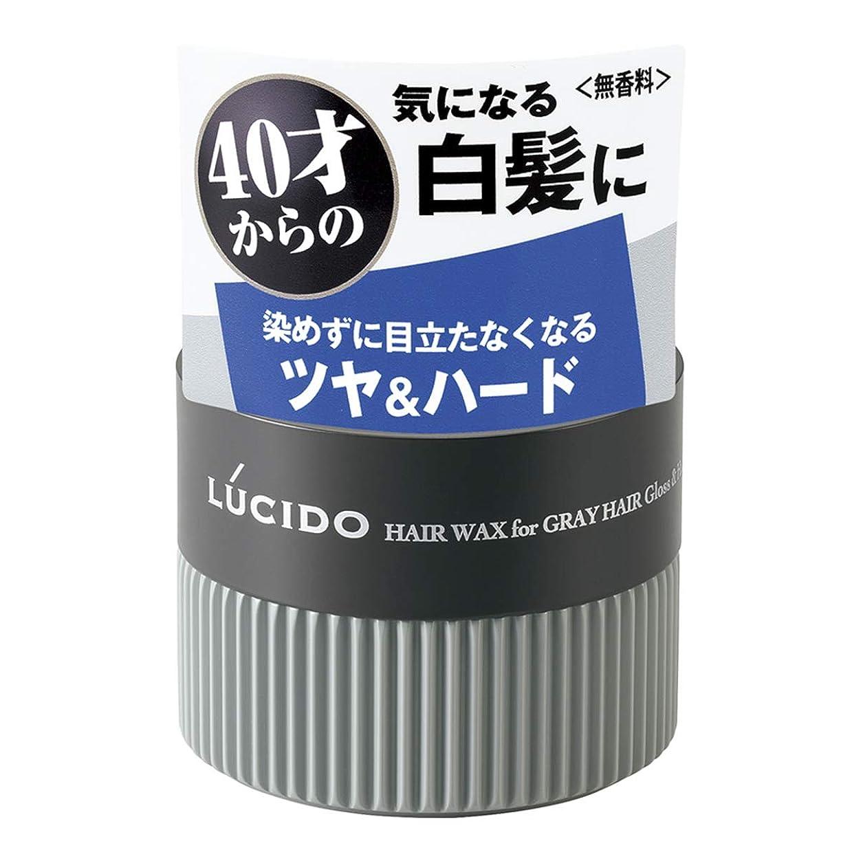織機バクテリア締め切りLUCIDO(ルシード) ヘアワックス 白髪用ワックス グロス&ハード 80g