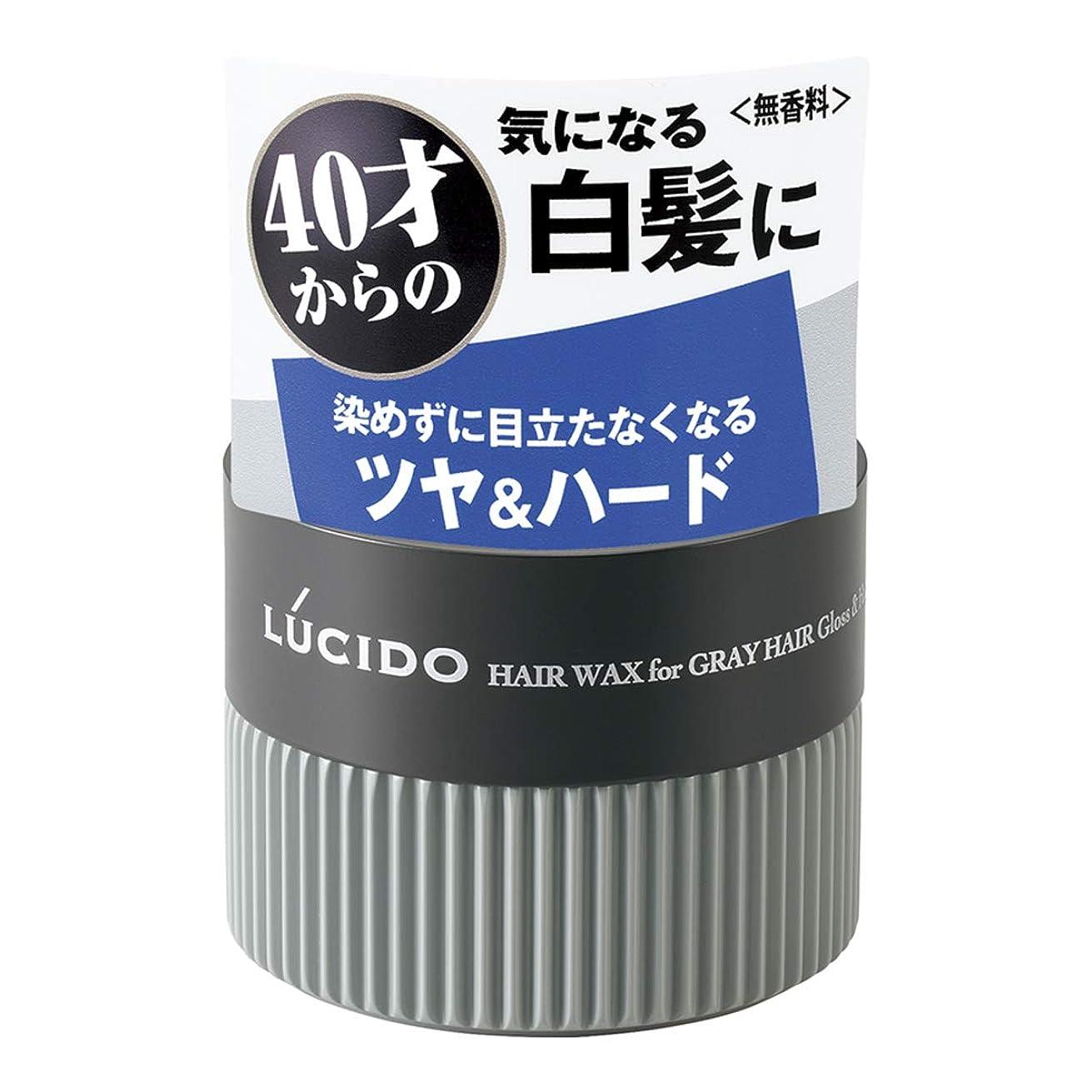 収縮純粋に延期するLUCIDO(ルシード) ヘアワックス 白髪用ワックス グロス&ハード 80g