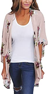 Women Cardigan Guesthome, Summer Chiffon Loose Shawl Print Kimono Top Cover Up Blouse Beachwear