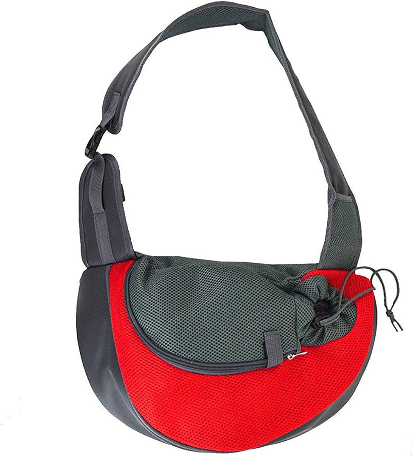 Pet Sling Dog Cat Sling Carrier for Cats Dogs Bunny, Extra Safety Outdoor Travel Oxford Single Shoulder Bag Sling,Red,S