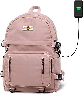 School Bags Waterproof Hiking Backpack Laptop Rucksack School Backpack Fashion Schoolbag for Men/Women Lightweight Backpack Outdoor with USB Charging Port
