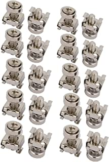 X-DREE 20pcs M5 65Mn Steel Cage Nuts w Mounting Screws Washers for Server Rack Cabinet (7a57cb66-a222-11e9-8d7c-4cedfbbbda4e)