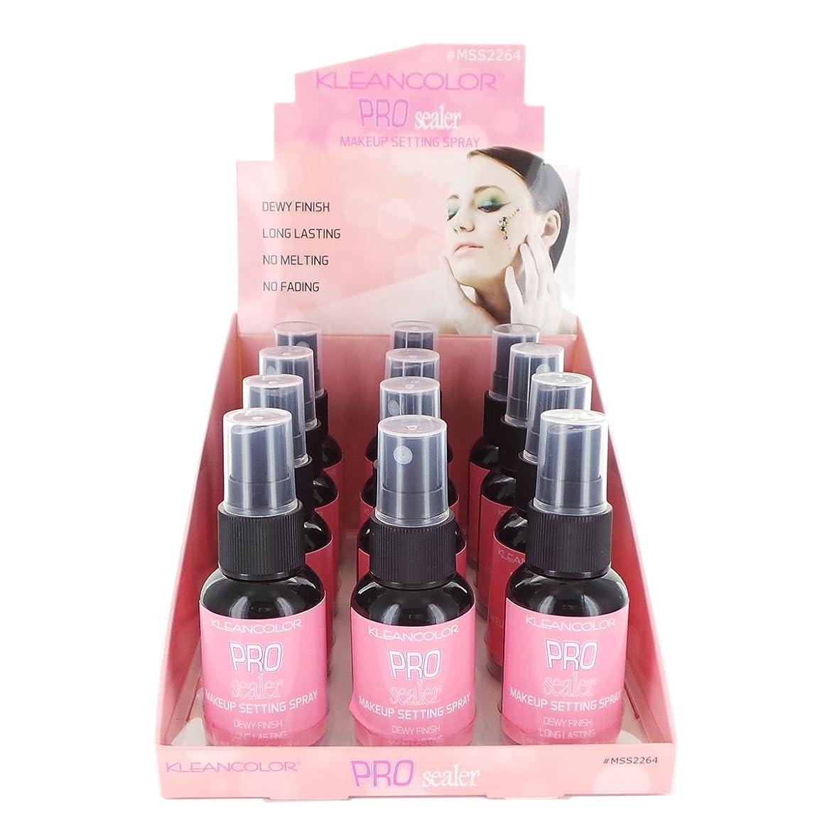 本能スカリーソビエトKLEANCOLOR Pro Sealer Makeup Setting Spray Display Set, 12 Pieces (並行輸入品)