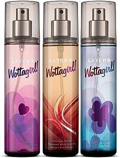 Layer'r Wottagirl Women's Body Mist Random Variants- 135 ml Each (Pack of 3)