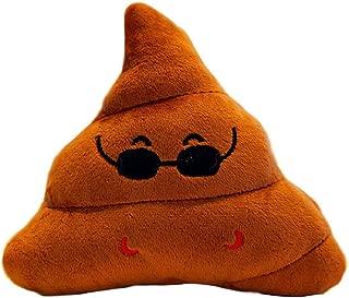 Boddenly Poop Stuffed Animal Plush Toy, Soft Toys Poop Emoji Smiley Emoticon Cushion Pillow Stuffed Plush Toy Round Cushion Stuffed Plush Soft Pillow Toy Triangle Cushion Decorative Stuffed Toy