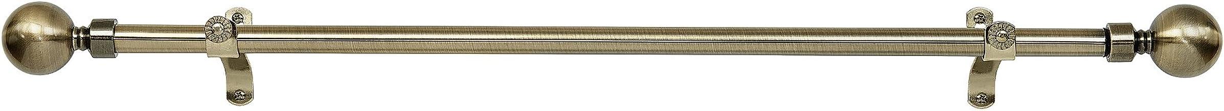 "Achim Home Meubels Metallo Decoratieve Gordijn Rod & Finial, Lincoln, 28"" x 48"""