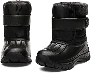 Toddler Snow Boots Boys & Girls Lightweight Waterproof Cold Weather Winter Outdoor..