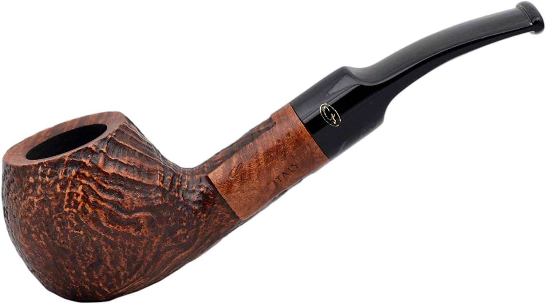 Gasparini SABBIATE Marrone Bent Apple Sandblasted Briar Tobacco Smoking Pipe