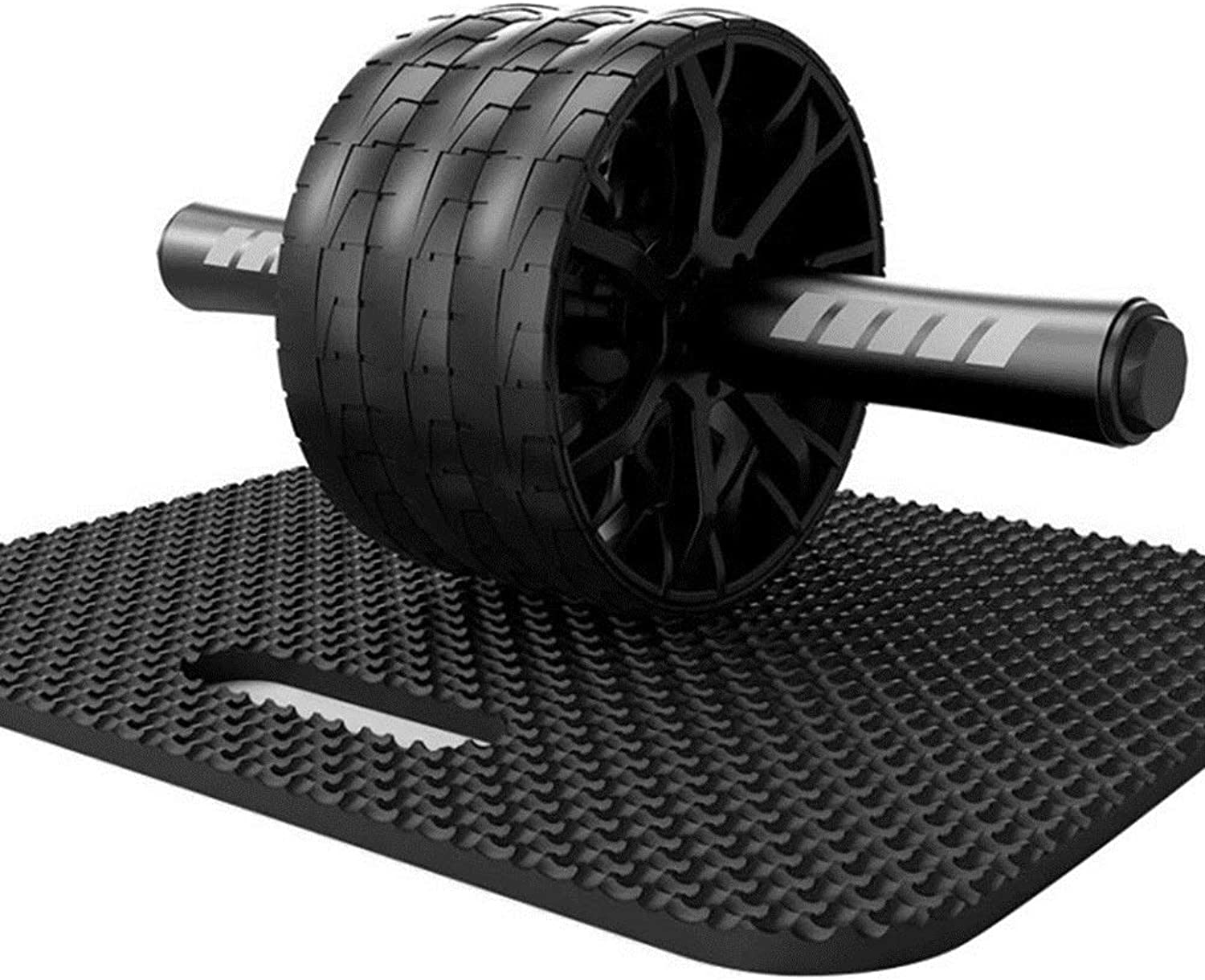 Ab Roller Abdominal Trainer Exercise Wheel Roller & Knee Pad. Strength Training Body Fitness for Abdominal Muscles.