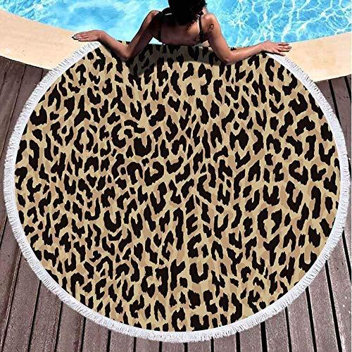 Runde Strandtücher für Kinder, Leopardenmuster, Hintergrund, 152,4 x 152,4 cm, großes Strandtuch, rund für Kinder, Damen und Jungen