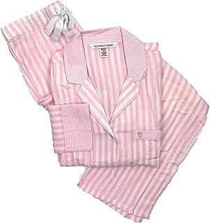 victoria secret pajama pink stripe
