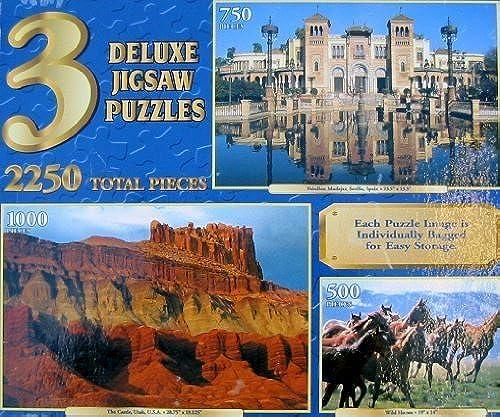 cómodamente 3 Deluxe Jigsaw Puzzles Puzzles Puzzles Set by Sure-Lox  excelentes precios