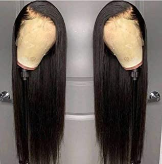 ANDRIA Lace Front Wigs Straight Hair Glueless Lace Wigs Synthetic Long Silk Straight Natural Wig Heat Resistant Fiber Natu...