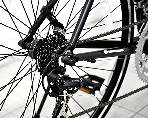 ANIMATO(アニマート)ロードバイクシマノ製14段変速MC21年保証(マットブラック)