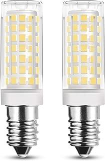 RAYHOO 2pcs E14 Base LED Light Bulbs 8W LED Light Equivalent to 60W Incandescent Bulb, E14 European Base Bulb, 88-2835-SMD LED Chipsets, Not Dimmable,110-130V, Warm White 2800-3200K, 550LM
