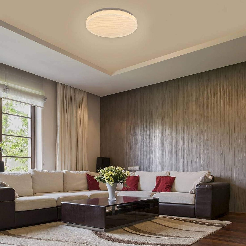 LED Deckenleuchte Milena Metall wei 39cm H 7,5cm mit Sterneffekt, mit 3-stufiger Dimmunktion über den Wandschalter