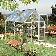 Palram Greenhouse Garden House Hybrid 6x10Silver/Aluminium/310X185X209cm (L x W x H), Tomato House...