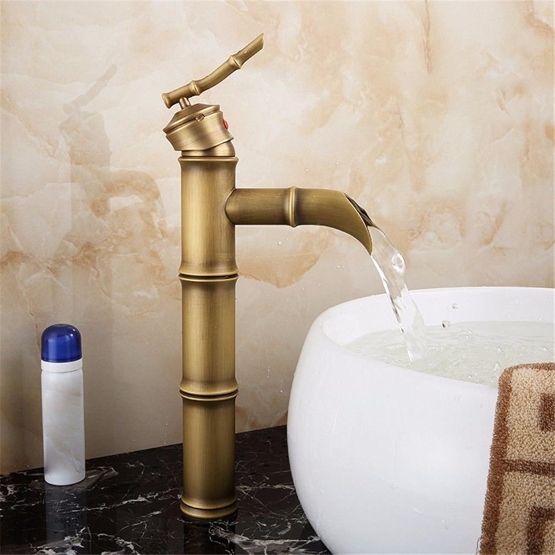 ETERNAL QUALITY Bad Waschbecken Wasserhahn Küche Waschbecken Wasserhahn Retro Kupfer Hei Und Kalt über Aufsatzbecken Waschtischmischer BEG2020