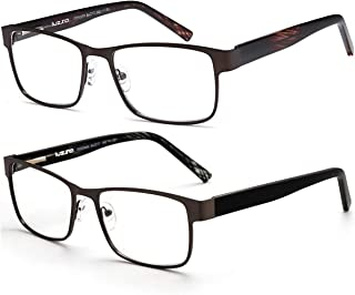Business Reading Glasses for Men, HUYAOPT 2.5 Fashion Business Reading Glasses Spring Hinge Lightweight Frame Comfort Readers