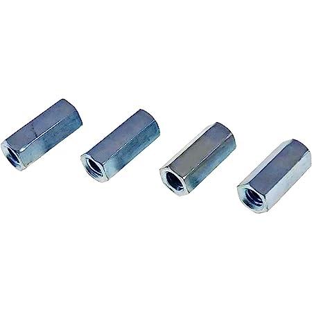 U-Turn 100 Pack 5//16-18 Coupling Nut Zinc Plated 1-3//4 Length