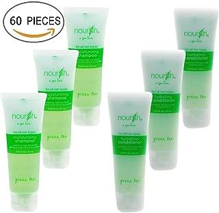 Nourish Spa Line Green Tea BNB Amenity Bath & Body Sets - Shampoo & Conditioner (30 of Each)