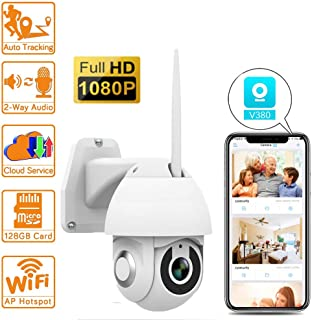 Cámara Domo IP PTZ Cámara de vigilancia WiFi IP65 para Exteriores Cámara 1080P HD WiFi Cámara Domo IP para visión Nocturna por Infrarrojos