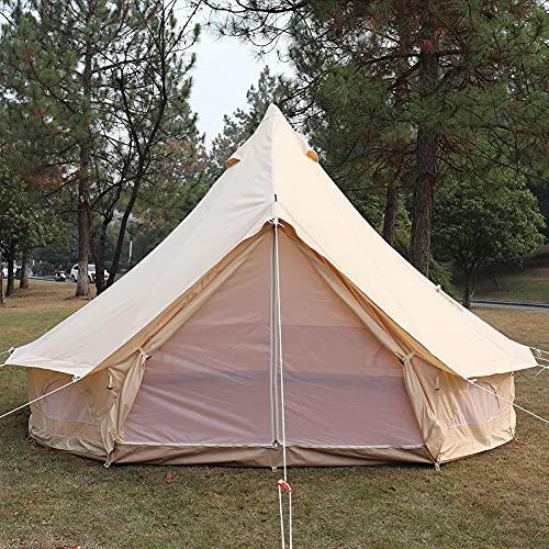 Tienda de campaña yurta de 3 m / 4 m con orificio para estufa Carpa familiar para acampar Carpa de campana...