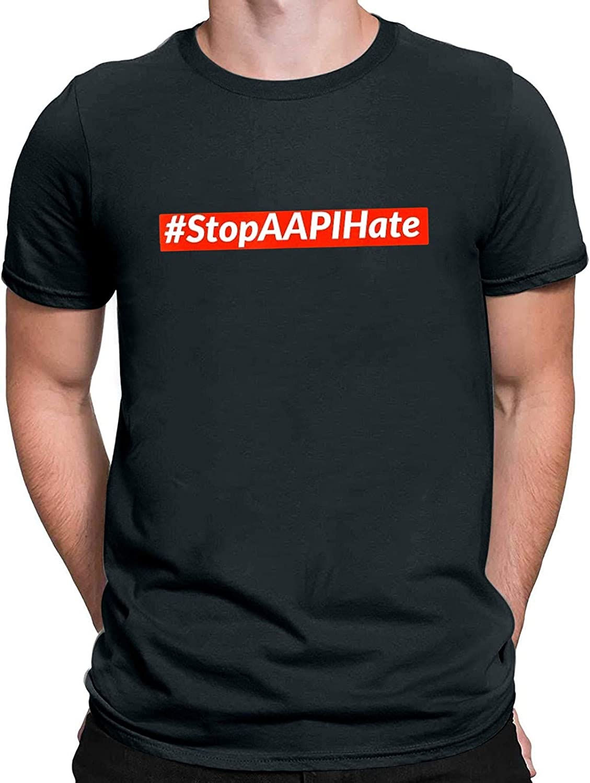 Mens Tshirt Short Sleeve Letter Graphic Tees Stop APPIHate Man Sport Basic Summer Tops Blouse Novelty Loose Shirt