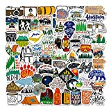 Best Hiking Stickers - 100 Pcs Outdoor Adventure Stickers Wilderness Nature VSCO Review