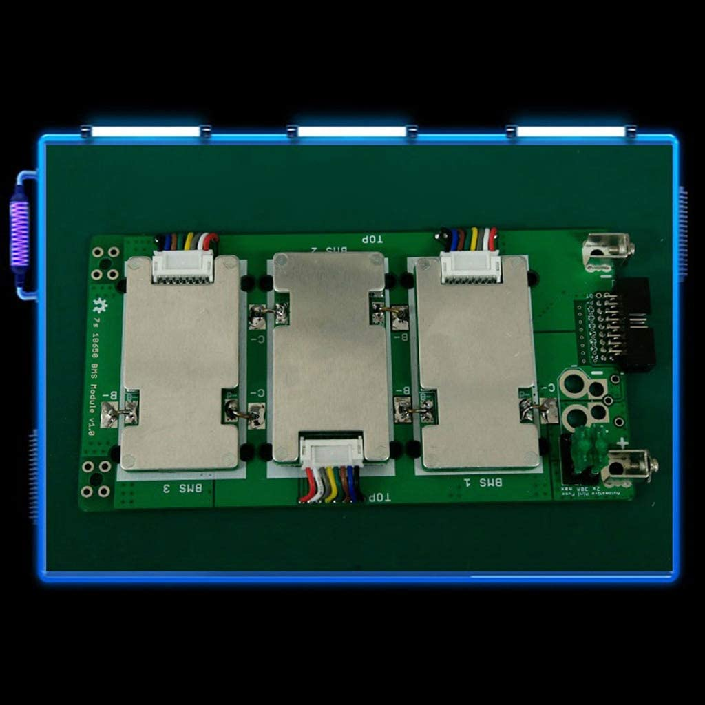 LIYUDL 7S Power Wall Balancer PCB 18650 Battery Case 20//40//60A Protection Board Holder