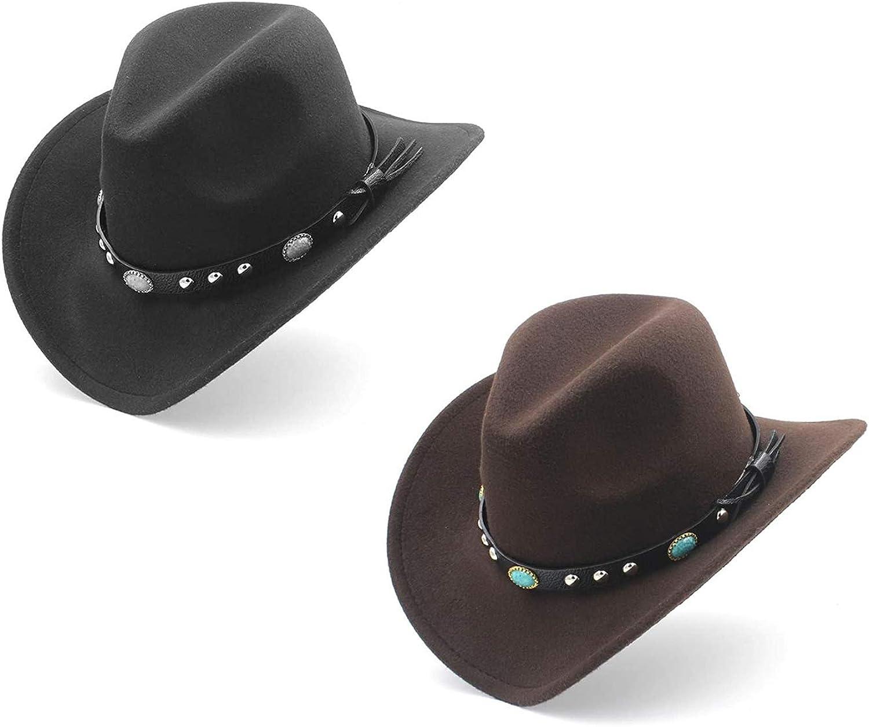 UIMNJHUKE LudyStore Max 68% OFF Womens Fashion Western Roll with Hat Under blast sales Cowboy