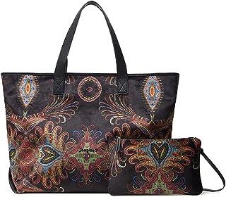Desigual Womens BOLS_Lacroix RAVVEL NAMIB Shopping Bag, Black, One Size