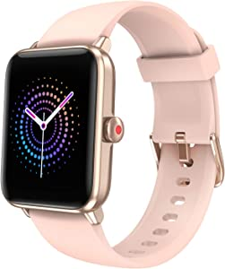 Smart Watch Fitness Tracker for Women Men with Blood Oxygen Heart Rate Sleep Monitor, Activity Tracker IP68 Waterproof, Step Calorie Counter, Pedometer, Smartwatch Compatible with iPhone Android
