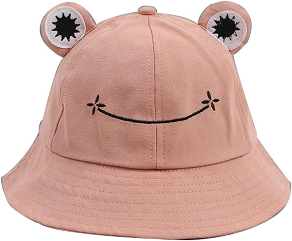 GAOYUAN Summer Outdoor Fisherman Frog Hat, Unique and Cute Frog Print Fisherman Hat, All-match/Couple/Sun Hat, Suitable for Boys and Girls